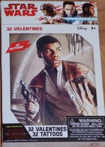 Star Wars The Last Jedi Valentines Day Cards Children Classroom 32 Count... - $4.99