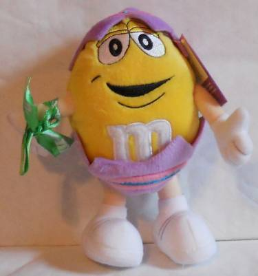 2001 M&M'S® CHARACTER (RED, YELLOW, & GREEN) EASTER PLUSHES - SET OF 3