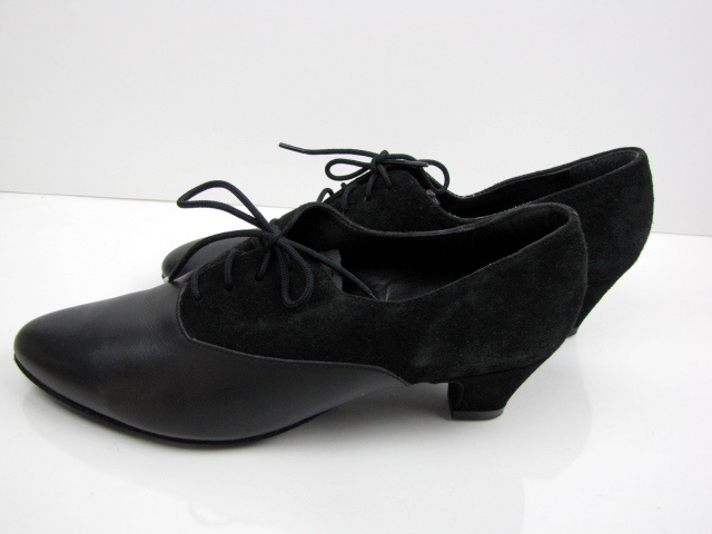 Black Suede Diamant Leather Jazz Dance Shoes