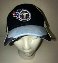 Tennessee Titans Reebok Osfm Stretch Fit Blue White And Red Baseball Hat - $9.90