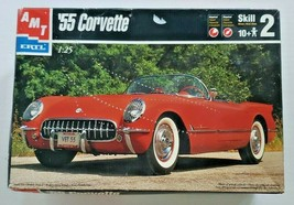 Vintage '55 Corvette (1998) AMT ERTL 1:25 Scale Model Kit Compete and Se... - $28.99