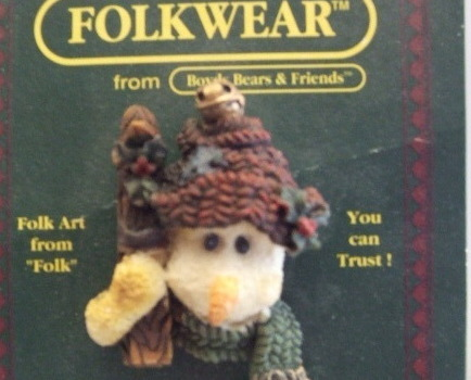 Boyd& Friends Folkwear Snowman Pin 2651 rtd