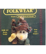 Boyd& Friends Folkwear Snowman Pin 2651 rtd - $2.99