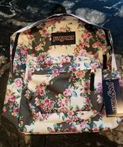 JanSport Superbreak Multi Gray Flor Backpack - New w/ Tags - $34.04