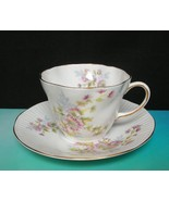 Vintage QUEENS ROSINA Bone China TEA CUP & SAUCER Pink Yellow Floral Sca... - $12.36