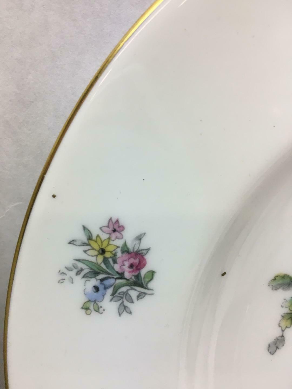 VINTAGE Set of 12 Royal WORCESTER Watteu DESIGN Salad PLATES People CENTER Flora
