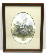 """Original Timothy Jon TJ Struna 5X7"""" Print Windmill Wind Power Dutch Ston... - $42.06"""