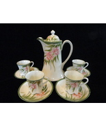 Pink Daffodil Hand Painted Chocolate Pot Set  - $79.99