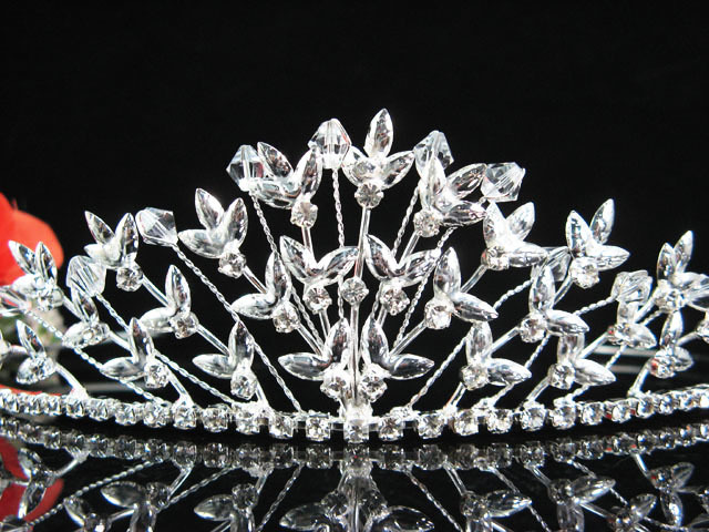 WEDDING CRYSTAL BRIDESMAID TIARA, RHINESTONE BRIDAL ACCESSORIES BRIDE COMB #1189