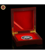 WR Wooden Single Coin Display Storage Box Collectible Case For Coins Med... - $9.20