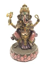 Ganesh (Ganesha) Sitting on Mouse Hindu God of Success Statue Sculpture - £45.89 GBP