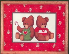 Dale Burdett Christmas Cross Stitch Kit Two Teddies Bears CCK202 1985 - $19.76
