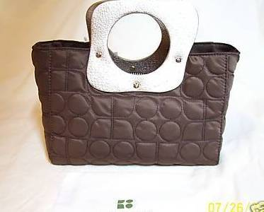 Kate Spade Dot Noel Brown Handbag Purse Tote NWT
