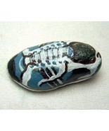 Small Hand Painted Rock Blue Running Shoe One O... - $4.99
