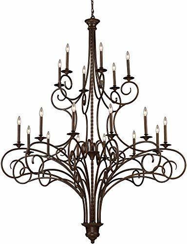 ELK 15044/12+6, Gloucester Candle Chandelier Lighting, 18 Light, 360 Watts, Anti