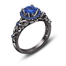 Princess Womens Wedding Engagement Blue Sapphire Ring 925 Sterling Silver - $74.99