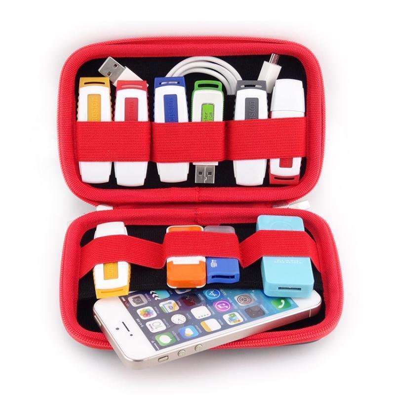 Bag Digital Storage Travel Organizer Portable Phone USB Flash Drive Earphone Bag