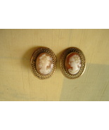 Vintage Cameo Earrings - Clip on - $25.00