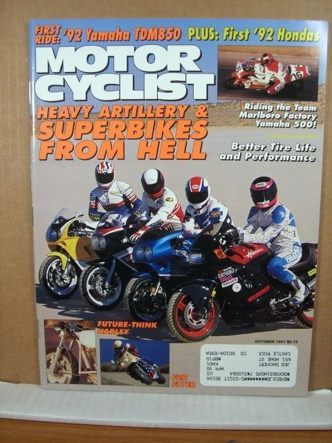 Motorcyclist Magazine, October 1991 Yamaha 500