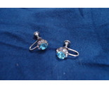Smaller blue and white rhinestone earrings thumb155 crop