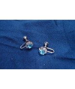 Vintage Rhinestone - screback earrings - $12.00