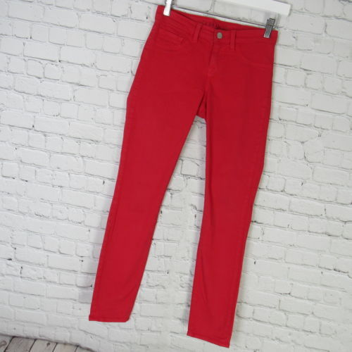 J Brand Jeans Pants Womens 24 Red Skinny Leg C04