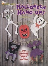 Halloween Hang-Ups Plastic Canvas Skeleton Witch Pumpkin Ghost Dracula D... - $4.94
