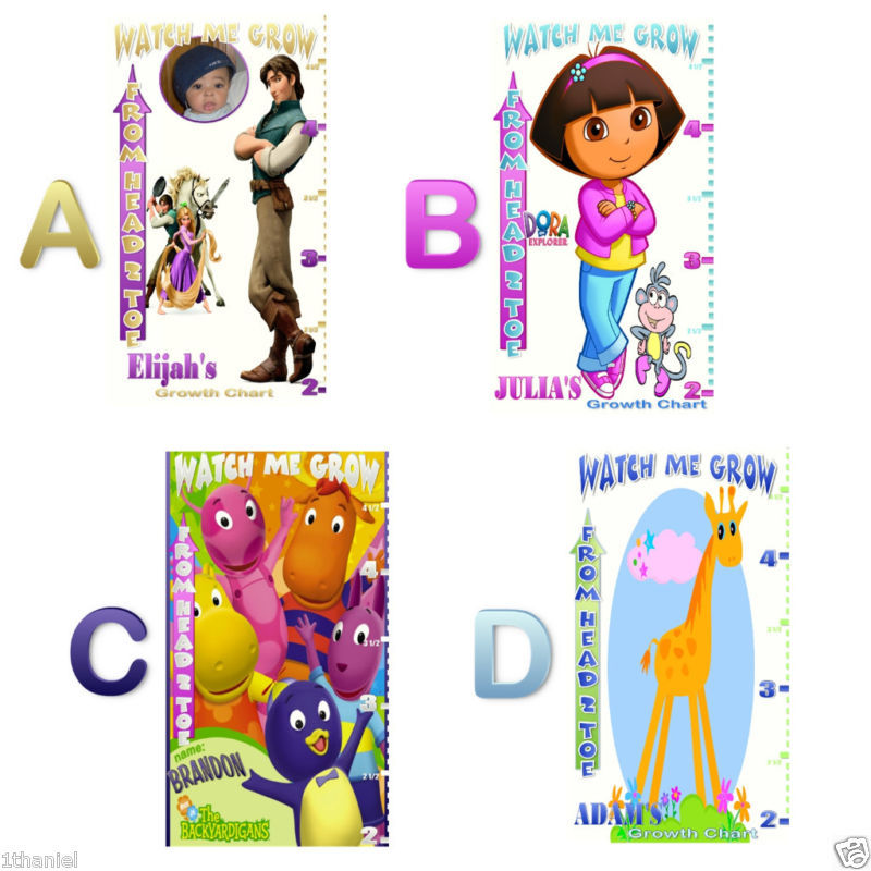 Dora, Boots & More -Personalized- Growth Chart Banner -U Pic