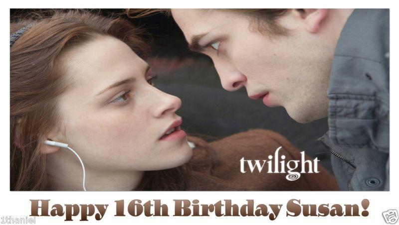 Twilight New Moon Saga -Custom- Personalized Vinyl Birthday Banner Decoration
