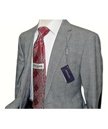 Men Adolfo  Sport Coat Blazer All Cotton English Glen Plaid 4014 Black W... - $59.97