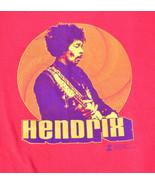 Jimi Hendrix 2002 Authentic Apparel Zion Rootswear Red Short Sleeve Shirt Men M - $29.58