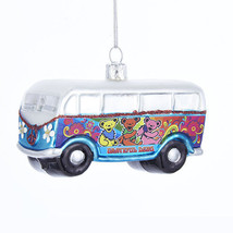 KSA HAND-CRAFTED GLASS GRATEFUL DEAD VW TOUR BUS w/BEARS CHRISTMAS ORNAMENT - $18.88