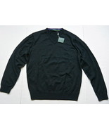 Bobby Jones Pima Cotton Golf Sweater V-Neck Black M NWT - $49.95