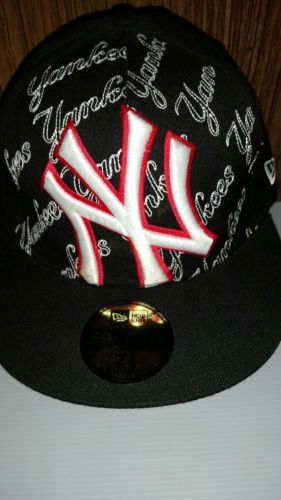 3824abd34ca 12. 12. Previous. New Era New York Yankees Fitted Hat Black Wool Baseball  MLB 59Fifty Cap 7 1  · New Era ...