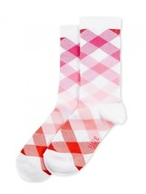 Socks HUE Womens Gingham Argyle Bloom Pink White Plaid One Size NWT Cott... - $4.95