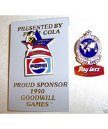 2 Goodwill Games Seattle Pepsi Pay Less Drug 1990 Pins - $5.39