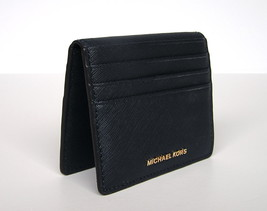 Michael Kors Jet Set Travel Leather Card Case Holder Small Wallet Navy N... - £31.29 GBP