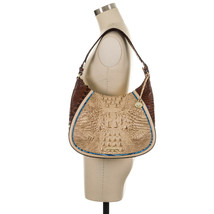 NWT Brahmin Amira Leather Hobo / Shoulder Bag in Sand Santana - $319.00