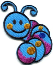 Caterpillar worm insect bug retro kids fun applique iron-on patch new S-701 - $2.95