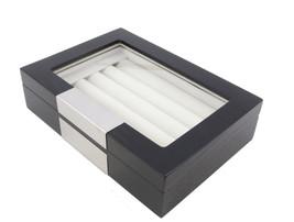 Decorebay Black Wood Cufflink Case & Ring Storage Organizer Men's Jewelr... - €39,87 EUR