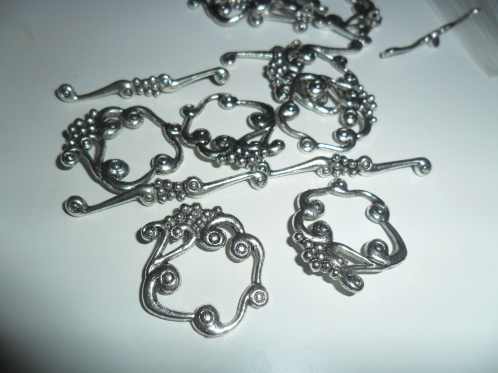 Tibet Silver Fancy Toggle Clasps Set of 15