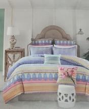 NEW Echo Design Sofia Multi Cotton Reversible Twin Duvet Cover Mini Set - $39.18