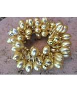 Gold Plastic Streach Bracelet - $8.00