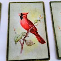 6 Cardinal Playing Cards for Crafting, Re-purpose, Up-cycle, Vintage Supplies, J image 3