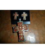 Cross Pendant and Earring Set - $12.00