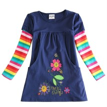 flower girl dress nova kids brand 2015 girl fashion dress 100%cotton kid... - $27.54