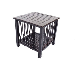 Patio end table Outdoor side accent square aluminum pool furniture. image 1