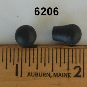 Pack of 25 Rubber End Caps 6206