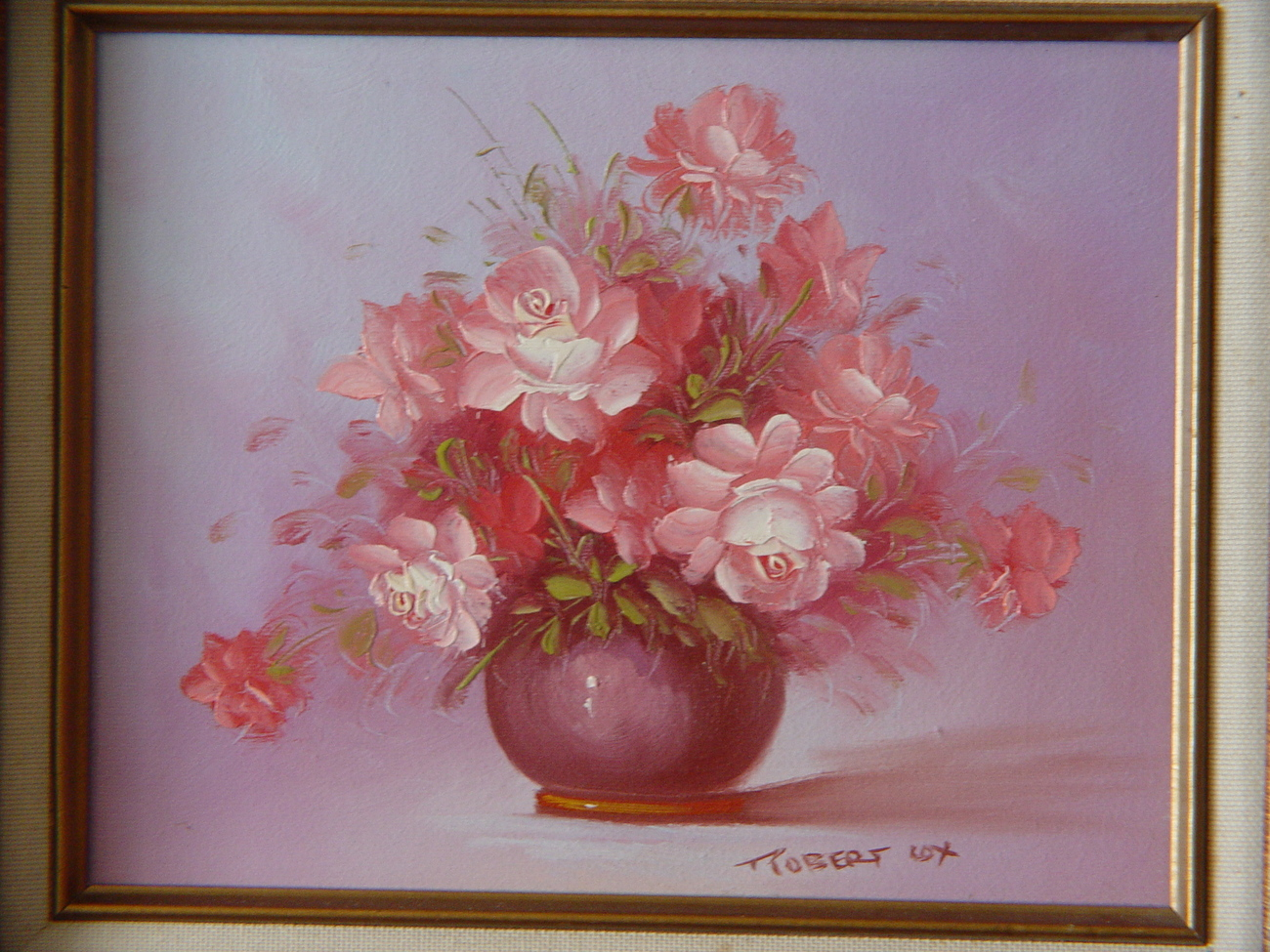 Framed, Ready to Hang, Beautiful  Robert Cox Original Oil Floral Painting 50 % O