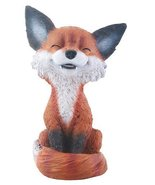 Brown and Black Smiling Fox Teehee Themed Decorative Figurine Statue - $11.88